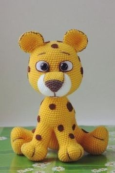 animales tejidos a crochet paso a paso leopardo