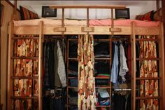 Cool idea for a closet underneath a loft bed - Get $25 credit with Airbnb if you sign up with this link http://www.airbnb.com/c/groberts22