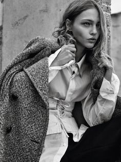 Sasha Pivovarova Wears the Pants In Gregory Harris Images For Vogue Paris November 2016 — Anne of Carversville  http://www.anneofcarversville.com/style-photos/2016/10/30/sasha-pivovarova-wears-the-pants-in-gregory-harris-images-for-vogue-paris-november-2016