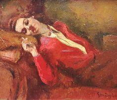 Ipolit Strâmbulescu (Strâmbu) (1871-1934) - Visare / Day dreaming