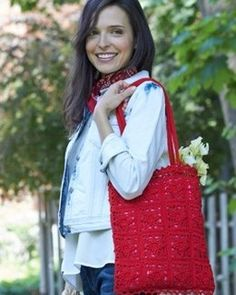 Vintage Lace Bag in Bernat Handicrafter Crochet Thread