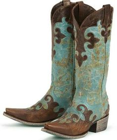 Hand-painted cowboy boots, painted with Annie Sloan's Chalk Paint ...