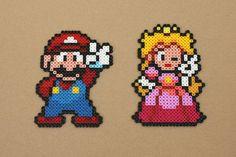 Mario Princess Peach Bead Sprites Hama Perler by strepie93 on DeviantArt