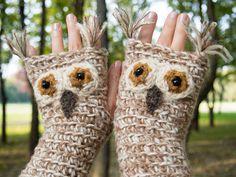 Eule fingerlose Handschuhe klobigen  freies Verschiffen von Pomber