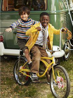 Kids on a #Schwinn  bike
