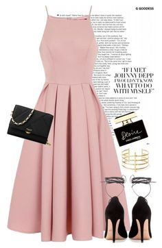pink  black by perilousness-fashion on Polyvore featuring polyvore, fashion, style, Chi Chi, Valentino, Michael Kors, BauXo, DolceGabbana and clothing