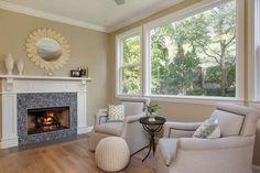 Cozy Fireplace beautiful tile
