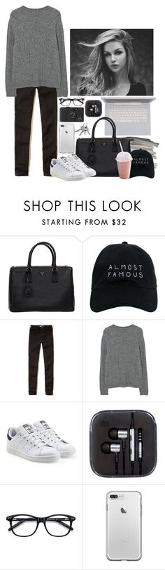 """""""Untitled #157"""" by maggie1314 ❤ liked on Polyvore featuring Prada, Nasaseasons, Hollister Co., MANGO, adidas Originals and Ace"""