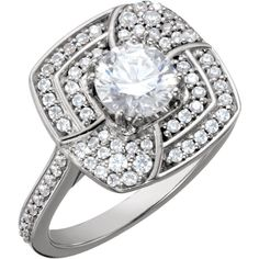 14k white gold round halo diamond engagement ring    Order this from Bauble Patch Jewelers today!  http://baublepatch.jewelershowcase.com/browse/wedding-and-engagement/  or call (616)785-1100