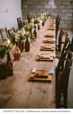 An Authentic, Eco & Fuss-Free Wedding Celebration | Real Weddings | Wedding Table Inspiration | Photograph by Estefania Romero Photography
