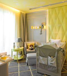 Vimos no blog Casa de Valentina :) Um quarto de bebê reinventado, lindo e amarelo. #MuitoAmor