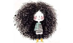 Little Girl Braids, Girls Braids, Illustration Mignonne, Cute Illustration, Elegant Hairstyles, Hairstyles With Bangs, 1950s Hairstyles, Curly Haircuts, Fashion Hairstyles