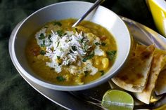 Indian Spiced Cauliflower Soup by smittenkitchen #Soup #Cauliflower #Indian