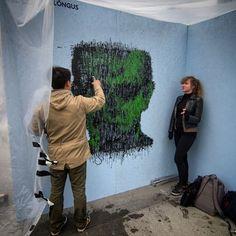 Making of Mr. Smith  #SprayPrinter #wallart #diy #interiordesign #technology #startup #gadgets #mrsmith #matrix #pixelart #streetart #edwardvonlõngus #art #artists #design #tallinnartweek #tallinn #estonia