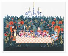 Alice in Wonderland Tea Party art prints designed by Anna Bond for Rifle Paper Co. will be at Northlight in April 2016