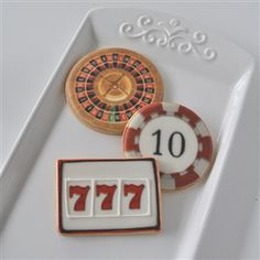 Roulette Wheel, Slots & Poker Chip Cookies Casino Night Party, Casino Theme Parties, Party Themes, Party Ideas, Vegas Theme, Milestone Birthdays, Poker Chips, Cool Diy Projects, Chip Cookies