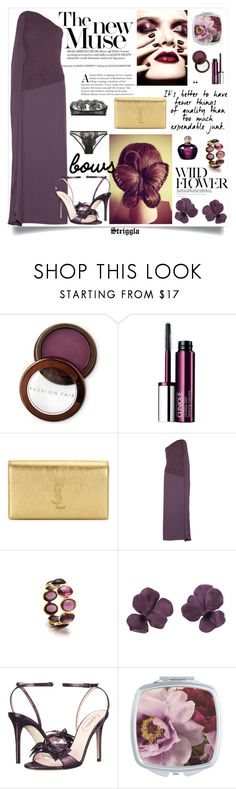 """""""Plum"""" by striggla ❤ liked on Polyvore featuring Fashion Fair, Clinique, Yves Saint Laurent, Halston Heritage, SJP, I.D. SARRIERI, Christian Dior, plum and polyvoreeditorial"""