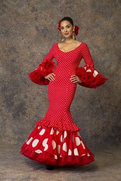 Spanish Dress, Flamenco Dancers, Flamenco Dresses, Spanish Fashion, Fishtail, Dot Dress, Classy Outfits, Fabric Design, Vintage Dresses