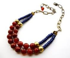 Image result for lapis lazuli statement necklace
