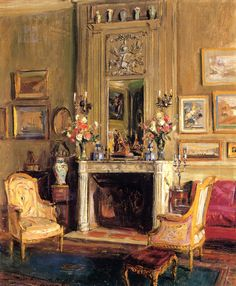 The Athenaeum - GAY, Walter American (1856-1937)_Elsie de Wolfe's Drawing Room, 123 East Fifth-fifth Street, New York