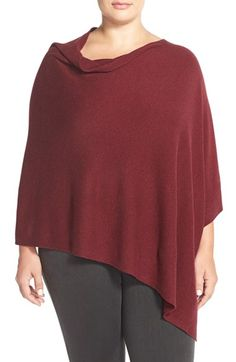 Eileen Fisher Cozy Fine Gauge Wool Poncho (Plus Size) | Nordstrom