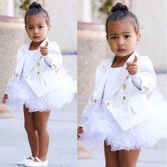 North West in white tutu, plus more stylish celeb kids. | Essence.com