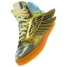 Men's adidas Originals Lifestyle Shoes JEREMY SCOTT FOIL WINGS SHOES $250.00