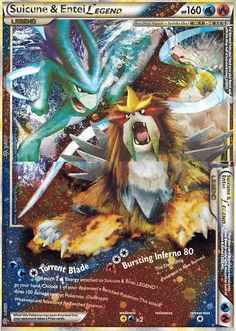 Legend Pokemon Cards | Pokemon Card of the Day: Suicune & Entei Legend (Unleashed ...