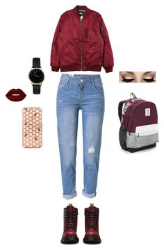 """""""We'll make pretend that you and me lived ever after happily"""" by official-bria-j ❤ liked on Polyvore featuring Stussy, WithChic, Dr. Martens, Victoria's Secret and Freedom To Exist"""