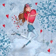 Illustrations Greeting Cards 2012 by Caroline Bonne-Müller, via Behance Illustration Mignonne, Cute Illustration, Art Fantaisiste, Creation Photo, I Love Heart, Dutch Artists, Arte Popular, Felt Hearts, Clip Art