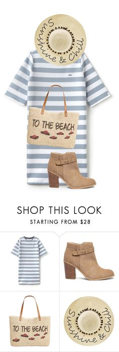 """""""Morning beach"""" by toocutewednesday ❤ liked on Polyvore featuring Lacoste L!VE, Sole Society, Style & Co. and Betsey Johnson"""