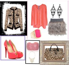 """""""Cheeta and Pink."""" by mckalawilliams on Polyvore"""