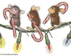"""Monica and friends from House-Mouse Designs® featured on the The Daily Squeek® for December 2nd, 2013. Click on the image to see it on a bunch of really """"Mice"""" products."""