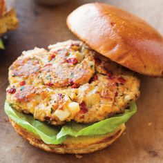 Chickpea and Roasted Red Pepper Burgers with Smoked Paprika Mayonnaise   Williams-Sonoma