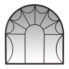 Aspire Home Accents Carlita 34-in x 35-in Dark Antique Brown Polished Arch Framed Transitional Wall Mirror $108