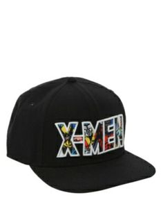 22119d55bd8 Marvel X-Men Logo Snapback Ball Cap