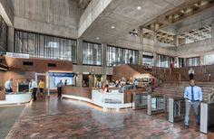 "Boston City Hall renovation preserves ""honesty"" of brutalist building City Hall Architecture, Boston Architecture, Concrete Architecture, Interior Architecture, Boston City Hall, Hall Interior, Interior Design, Brutalist Buildings, Concrete Interiors"