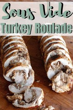This turkey roulade recipe is perfection on a plate! Your choice of turkey tenderloin or boneless, skinless turkey breast is butterflied and rolled up with a simple sausage and cranberry stuffing. Cooked to perfection in a sous vide water bath and seared in a screaming hot skillet to get an amazing golden brown color. Serve turkey roulade for your Thanksgiving feast or Christmas dinner. #sousvide #turkeyrrecipe #thanksgivingrecipe #christmasrecipe Cranberry Stuffing, Turkey Stuffing, Thanksgiving Feast, Thanksgiving Recipes, Turkey Roulade, Roulade Recipe, Turkey Tenderloin, Flank Steak Recipes