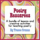 Poetry Lessons, Activities, Figurative Language Bundle on CD