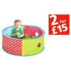 Buy Chad Valley Red Pop Up Ball Pit at Argos.co.uk - Your Online Shop for Baby activity toys, Baby toys, Baby and nursery.