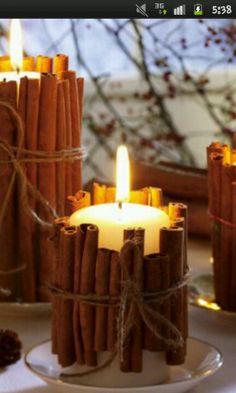 Zimt Kerze