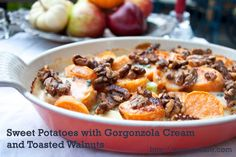 Sweet Potatoes with Gorgonzola Cream and Toasted Walnuts #Thanksgiving by Savour Fare, via Flickr