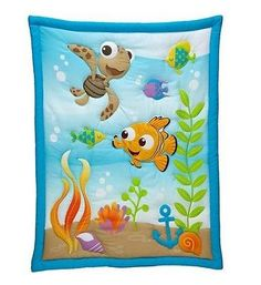 Nursery-Baby-Infant-Crib-Toddler-Bedding-Bed-Set-4Pc-Disney-Finding-Nemo-NEW