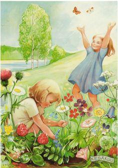 """June"" by Kerstin Frykstrand, Swedish children's book writer and illustrator"