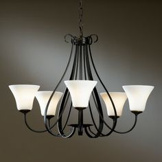 $1,030 - Sweeping Taper - Five Light Chandelier