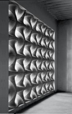 Erwin Hauer, Celebrated Sculptor of Architectural Screens, Dies at 91 is part of Residential Landscape architecture Arquitetura - AustrianAmerican sculptor and Interior Design Hall of Fame member Erwin Hauer passed away on December 2017 He was 91 Interior Exterior, Interior Design, Luxury Interior, Concrete Facade, Parametric Design, Facade Architecture, Cladding, Textures Patterns, December 22