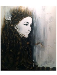 """Saatchi Online Artist: Steve Chivalry; Acrylic 2013 Painting """"The Wheat (0.00-1:03) (Hans Zimmers and Lisa Gerrard, Gladiator: Music from th..."""