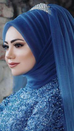 Hajib Fashion, Fashion Outfits, Muslim Brides, Turban, Marie, Bridal, Girls, How To Wear, Inspiration