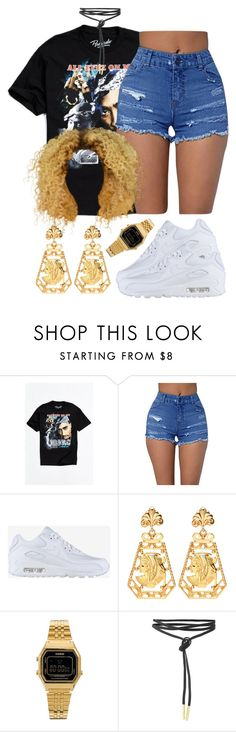 """Sans titre #364"" by lesliekabengele ❤ liked on Polyvore featuring Urban Outfitters, NIKE and Casio"