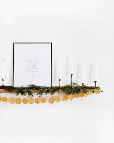 Love this orange and evergreen garland combination for holiday decorating. Love this orange and evergreen garland combination for holiday decorating. Christmas Time Is Here, Merry Little Christmas, Noel Christmas, Winter Christmas, Hygge Christmas, Interior Simple, Diy Christmas Garland, Advent Wreath, Handmade Christmas